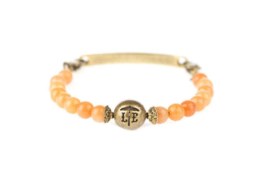 Logo Bangle Apricot - Across The Way