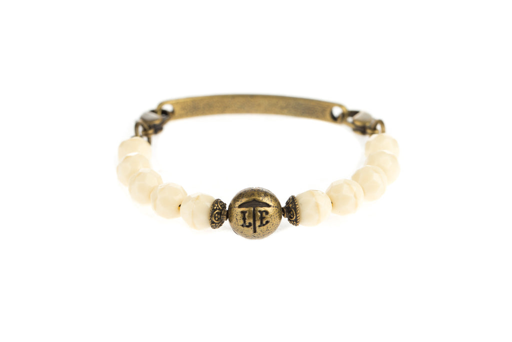 Logo Bangle Ivory - Across The Way