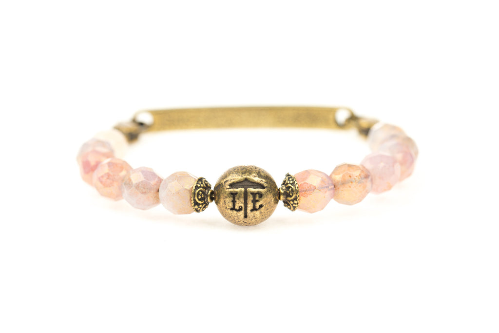 Logo Bangle Rose Quartz - Across The Way