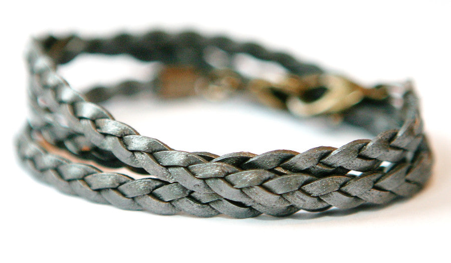 Braided wrap Pewter - Across The Way