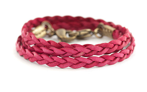 Braided wrap Raspberry - Across The Way