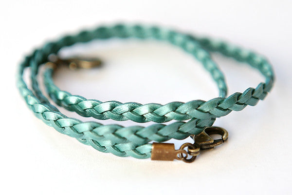 Braided wrap-seafoam - Across The Way