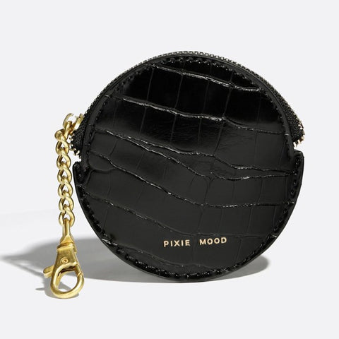 Monica Accessories Pouch - Black Croc