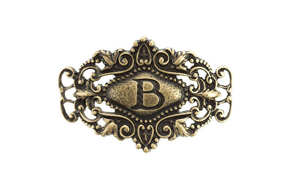 Monogram Sentiment B Brass - Across The Way