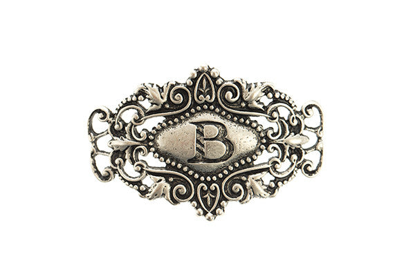 Monogram Sentiment B Silver - Across The Way