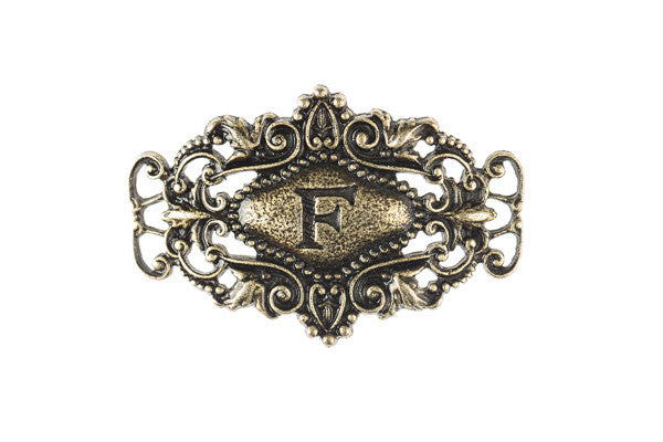 Monogram Sentiment F Brass - Across The Way