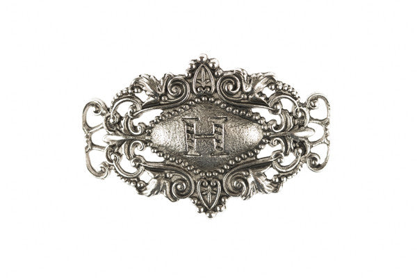 Monogram Sentiment H Silver - Across The Way