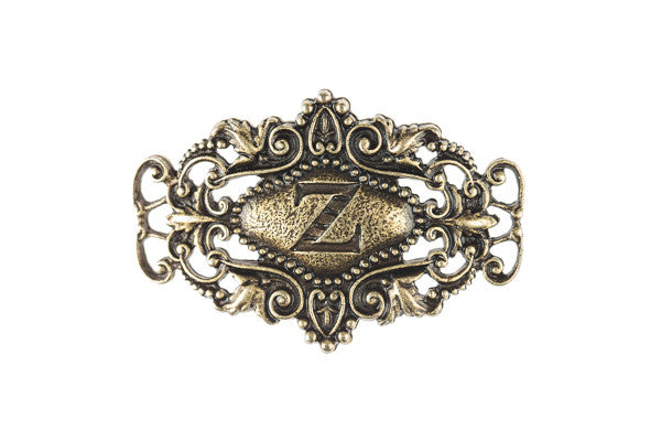 Monogram Sentiment Z Brass - Across The Way