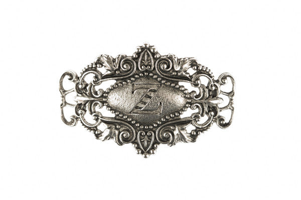 Monogram Sentiment Z Silver - Across The Way
