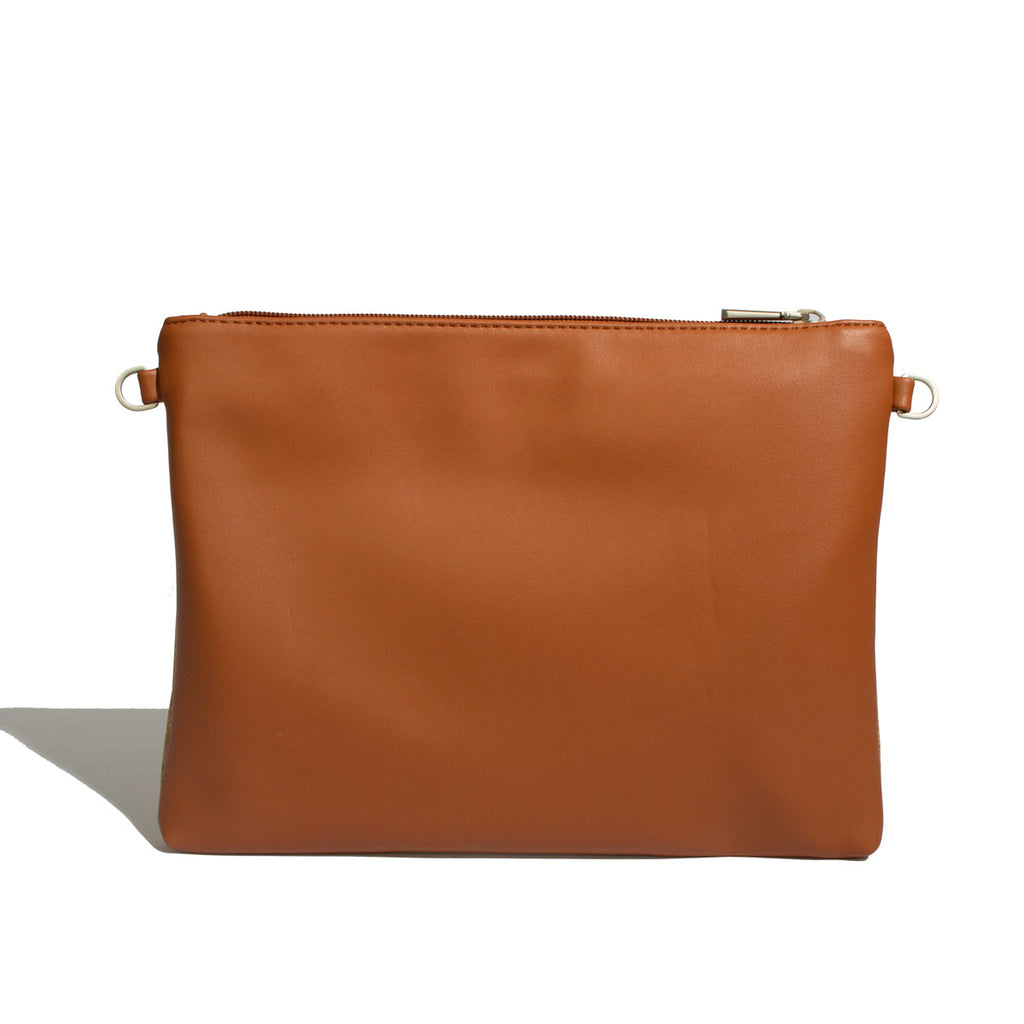 Nicole Pouch Large - Cognac / Cork - Across The Way