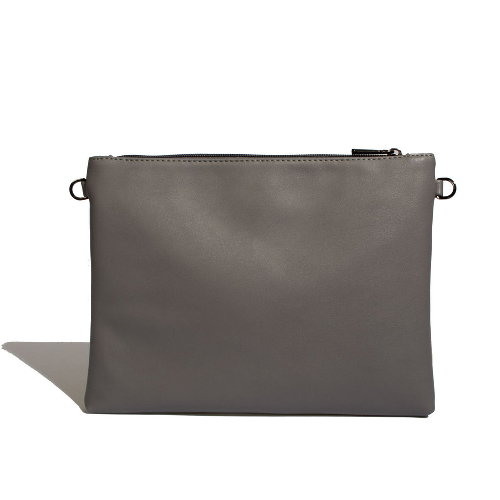 Nicole Pouch Large - Grey / Cork - Across The Way