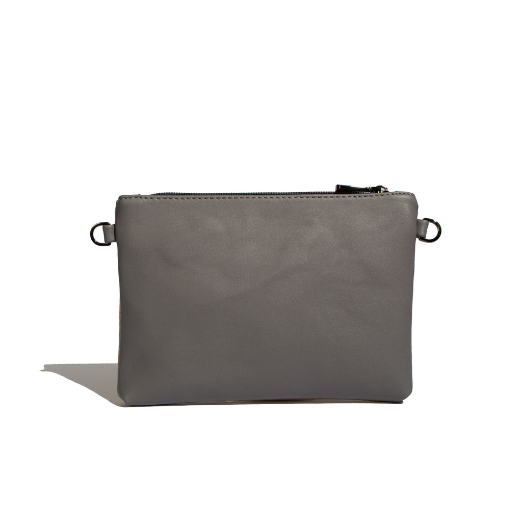 Nicole Pouch Small - Grey / Cork - Across The Way