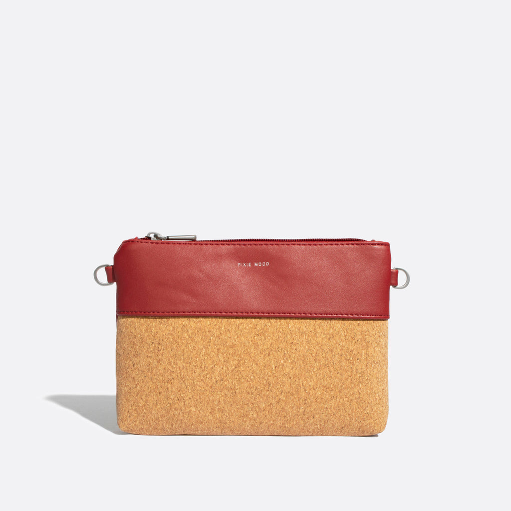 Nicole Pouch Small - Red / Cork - Across The Way