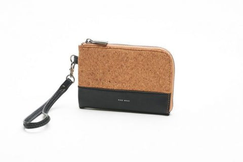 Cameron Wristlet - Black and Cork - Across The Way