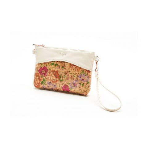 Nicole Wristlet - Light Floral Cork - Across The Way