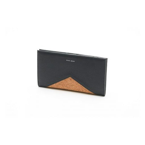 Sophie Wallet Black and Cork - Across The Way