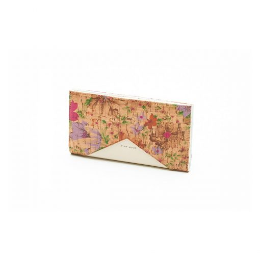 Sophie Wallet Light Floral and Cork - Across The Way