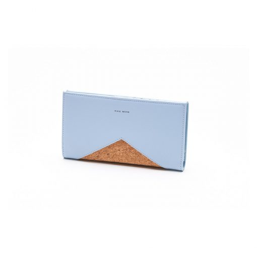 Sophie Wallet Smokey Blue and Cork - Across The Way