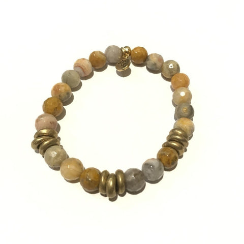 8mm Gemstone Bracelet - Mexican Agate