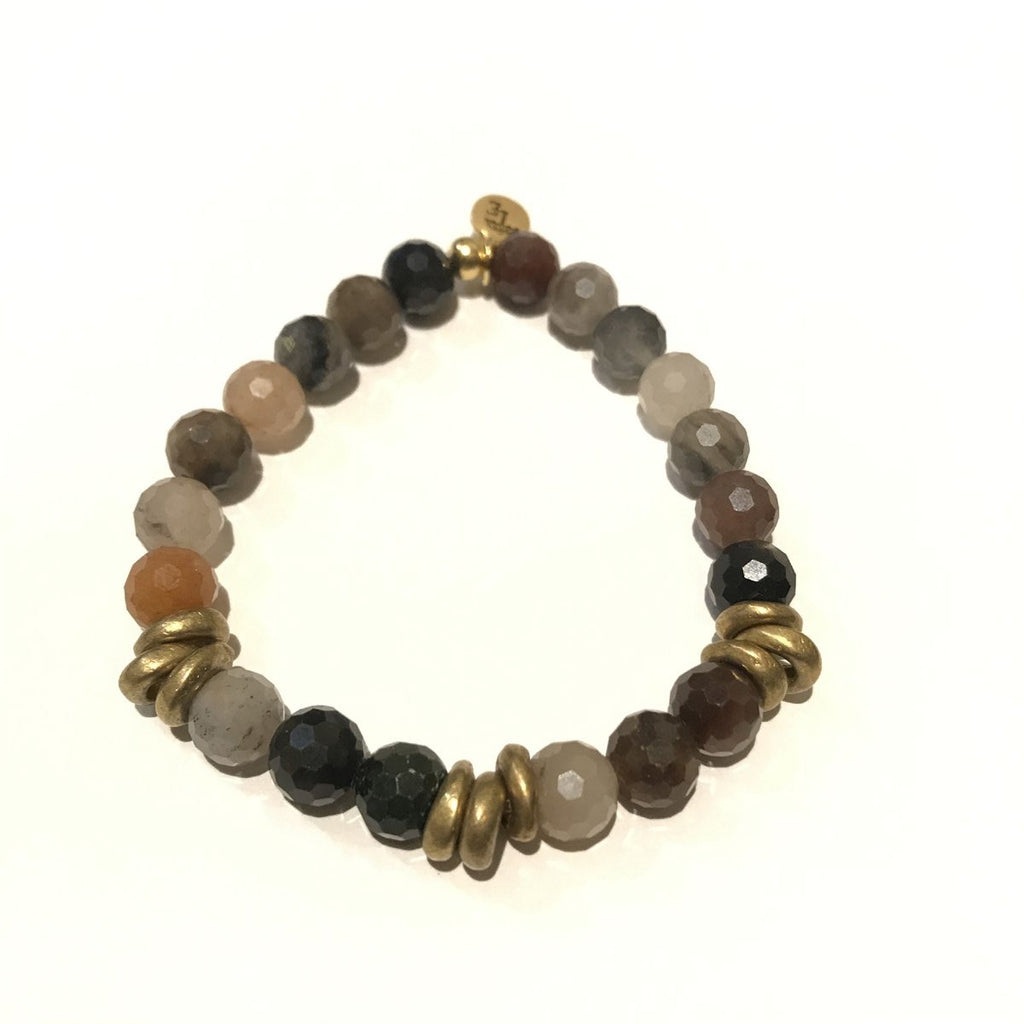 8mm Gemstone Bracelet - Fancy Jasper