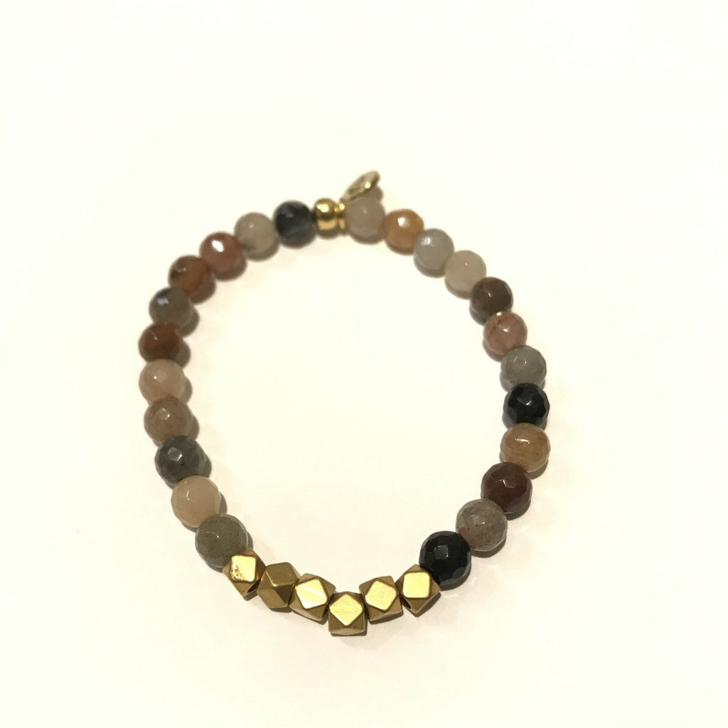 6mm Gemstone Bracelet - Fancy Jasper