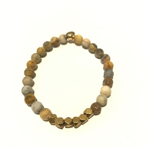 6mm Gemstone Bracelet - Mexican Agate