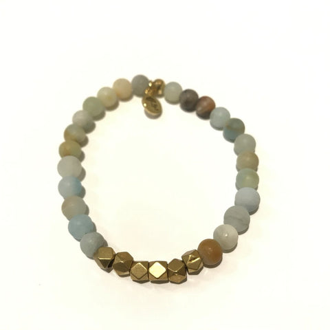 6mm Gemstone Bracelet - Amazonite