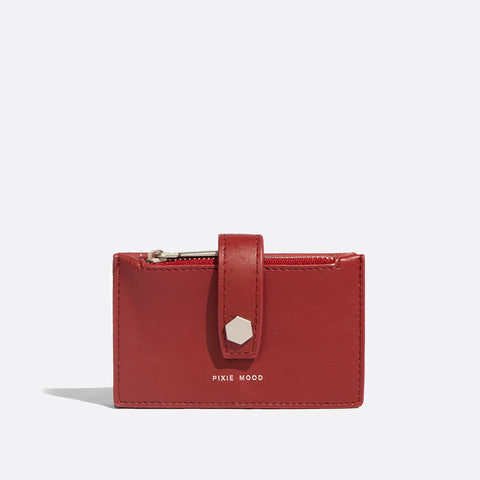 Rika Card Holder Red - Across The Way