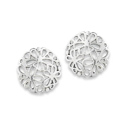 Cutout Flowers Silver Stud