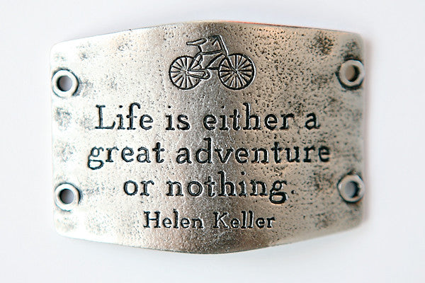 Life is either a great... antique silver - Across The Way