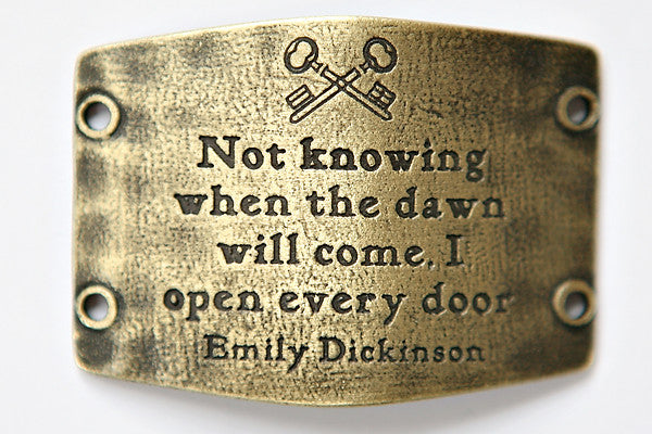 Not knowing when... antique brass - Across The Way