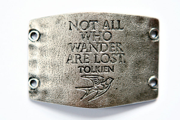 Not all who wander are lost. antique silver - Across The Way