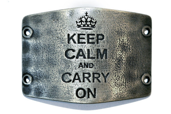 Keep calm and carry on. antique silver - Across The Way