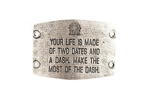 Your life is made of two dates...  antique Silver - Across The Way