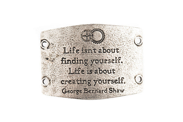 Life isn't about finding yourself.. antique silver - Across The Way