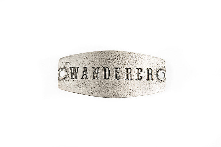 Small sentiment `Wanderer` Antique Silver - Across The Way