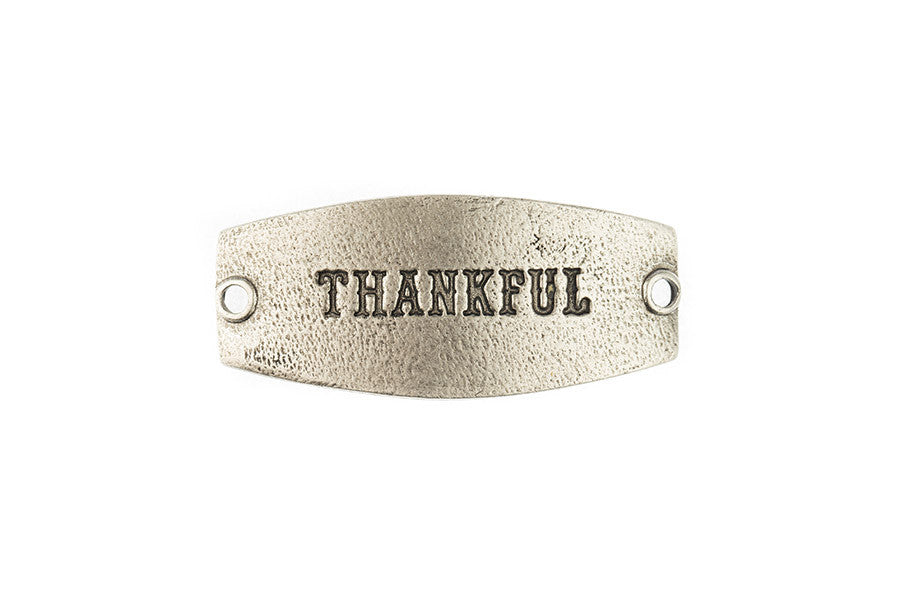 Small sentiment Thankful silver - Across The Way