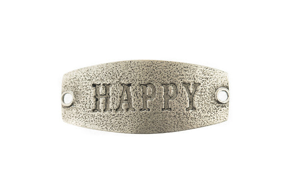 Small sentiment Happy Antique Silver - Across The Way