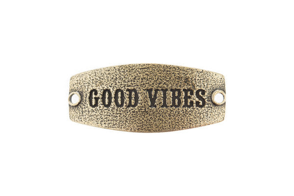 Small sentiment Good Vibes Antique Brass - Across The Way