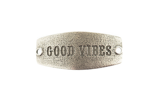 Small sentiment Good Vibes Antique Silver - Across The Way
