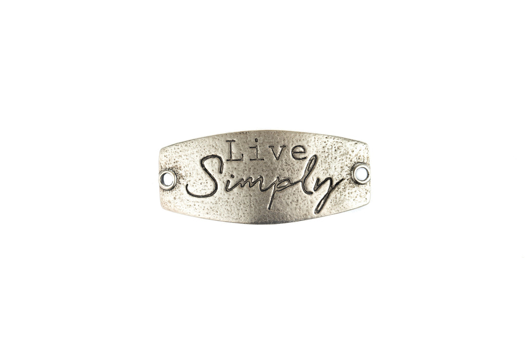 Live Simply antique Silver - Across The Way