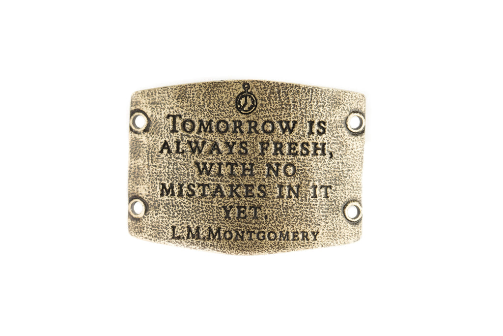 Tomorrow is always fresh, with no Mistakes Brass - Across The Way