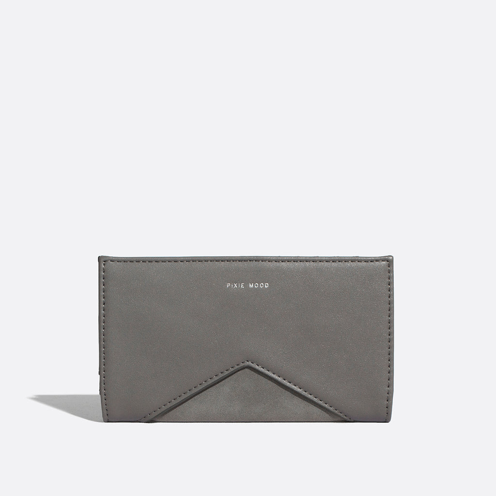 Sophie Wallet Grey / Nubuck - Across The Way