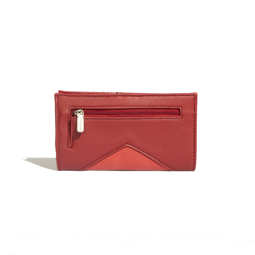 Sophie Wallet Red / Nubuck - Across The Way