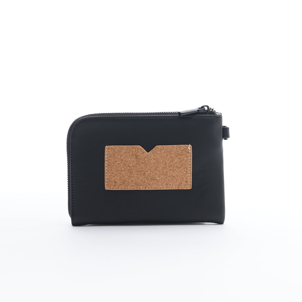 Stacy Wristlet - Black/Cork - Across The Way