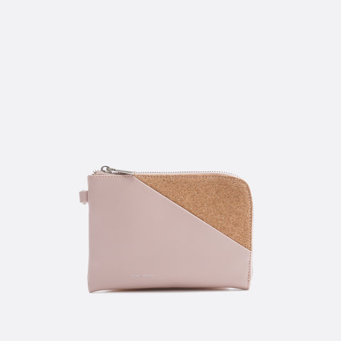 Stacy Wristlet - Muted Rose/Cork - Across The Way