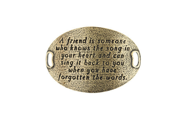 TS Statment  A friend is someone who -Brass - Across The Way