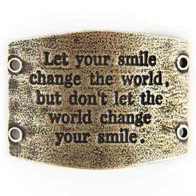 Let your smile change the world, but dont... antiq