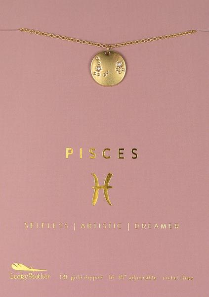 Zodiac Necklace Pisces