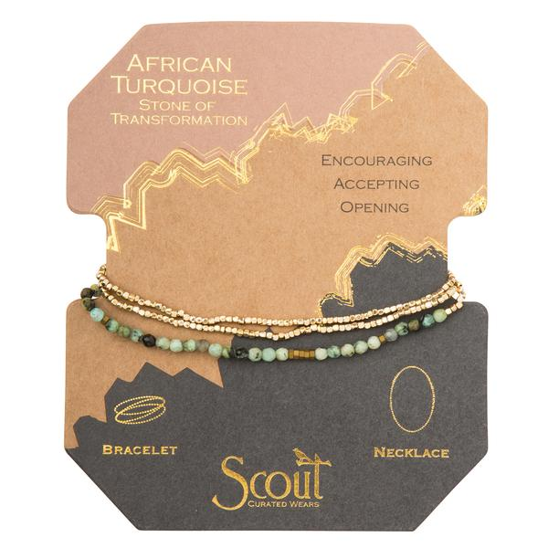 African Turquoise Gold Delicate Wrap - Across The Way